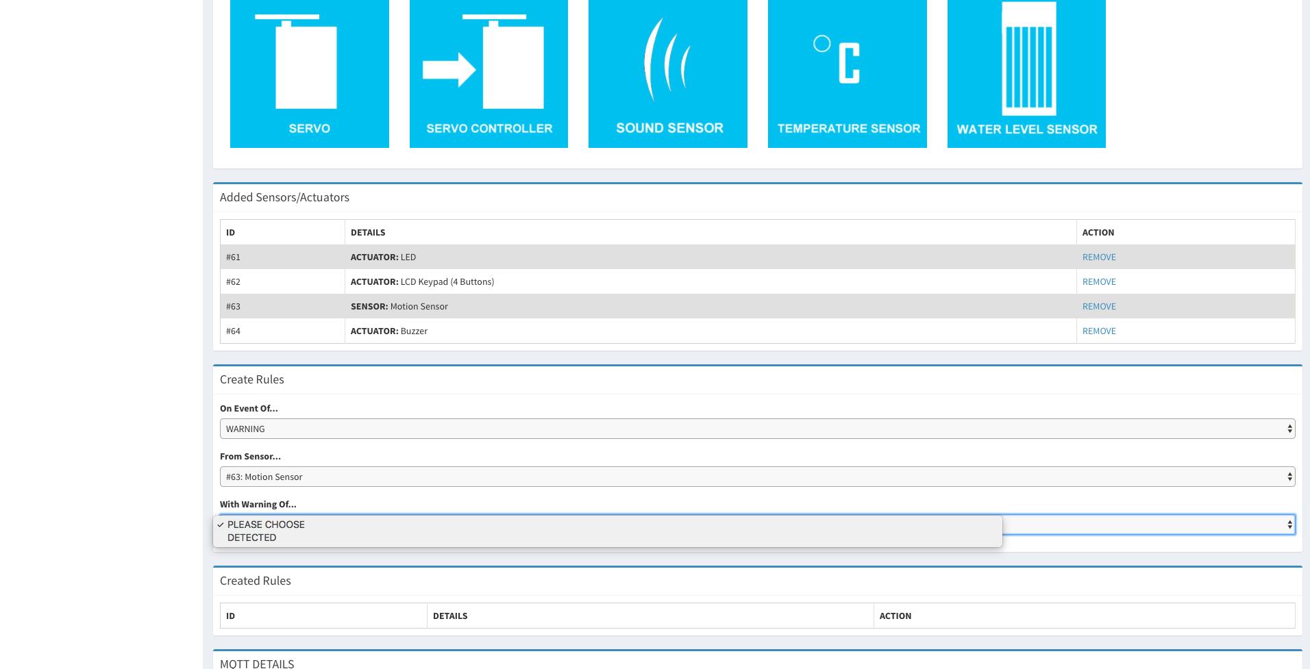 IoT JumpWay  IoT JumpWay Intel® Arduino/Genuino 101 DFRobot LCD Intruder System Example Docs