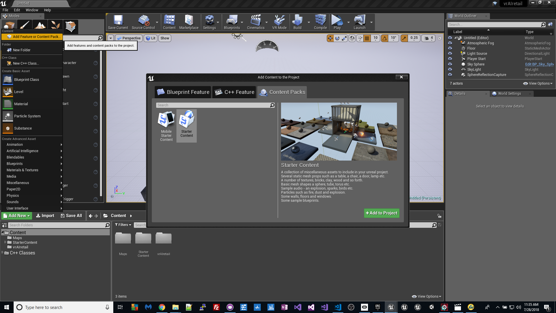 Create Unreal Engine Project