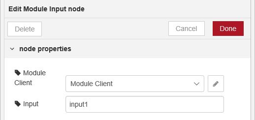 Edit Module Input