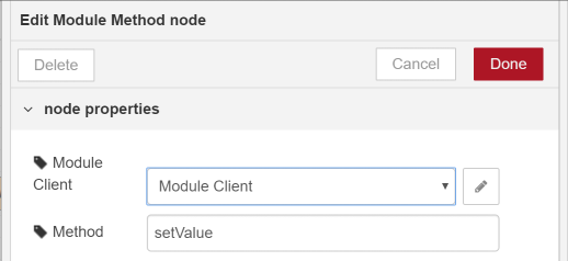 Edit Module Output