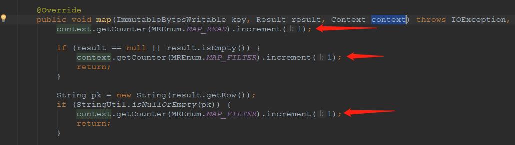 使用累加器代码片段