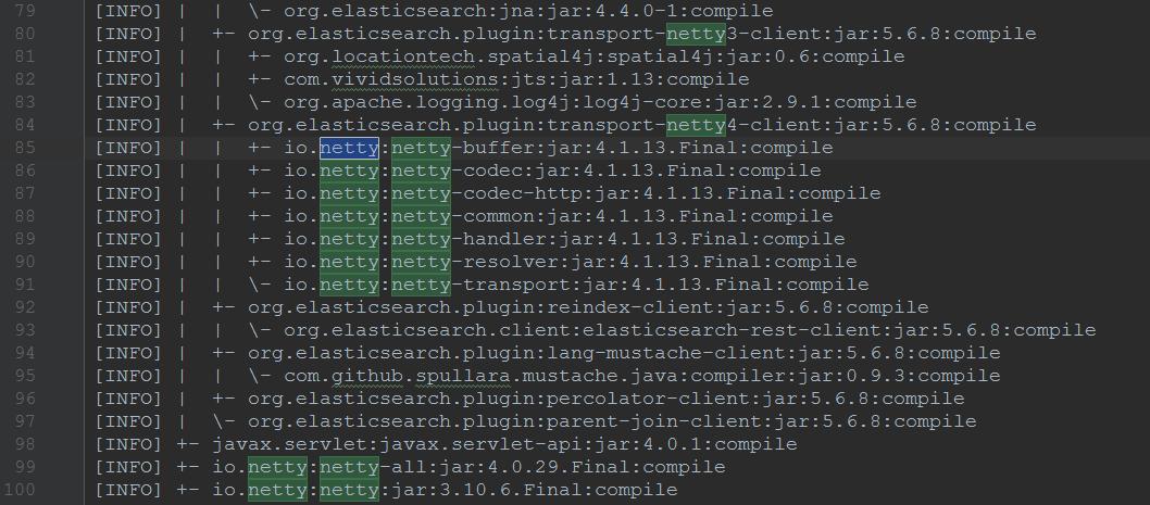 搜索 netty 关键字