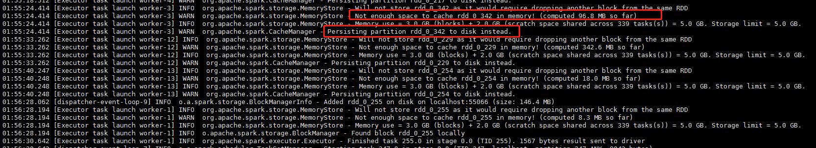 一部分数据被缓存到磁盘