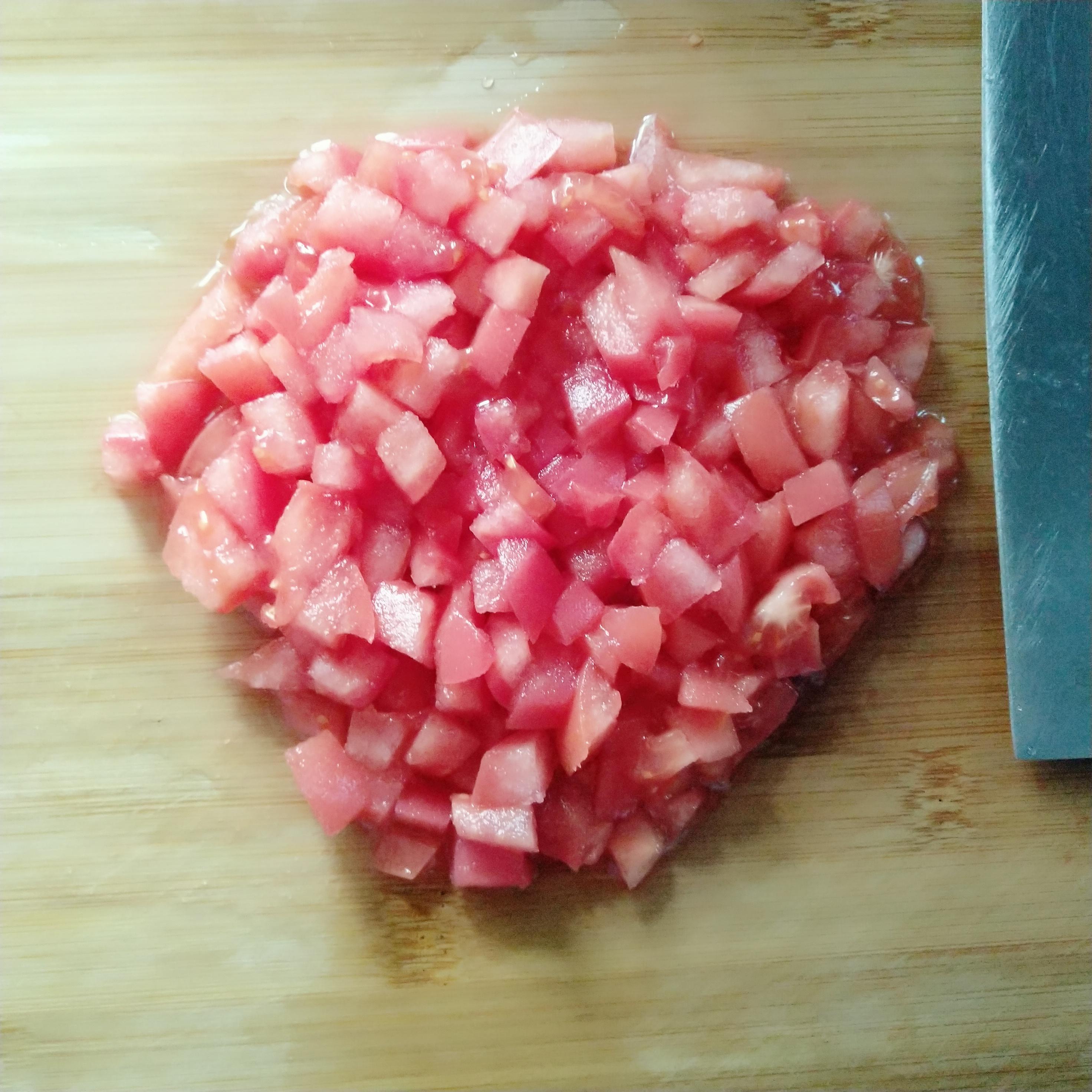 西红柿切丁