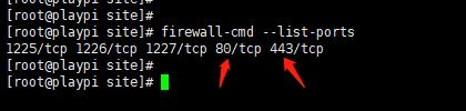 服务器端口开启情况