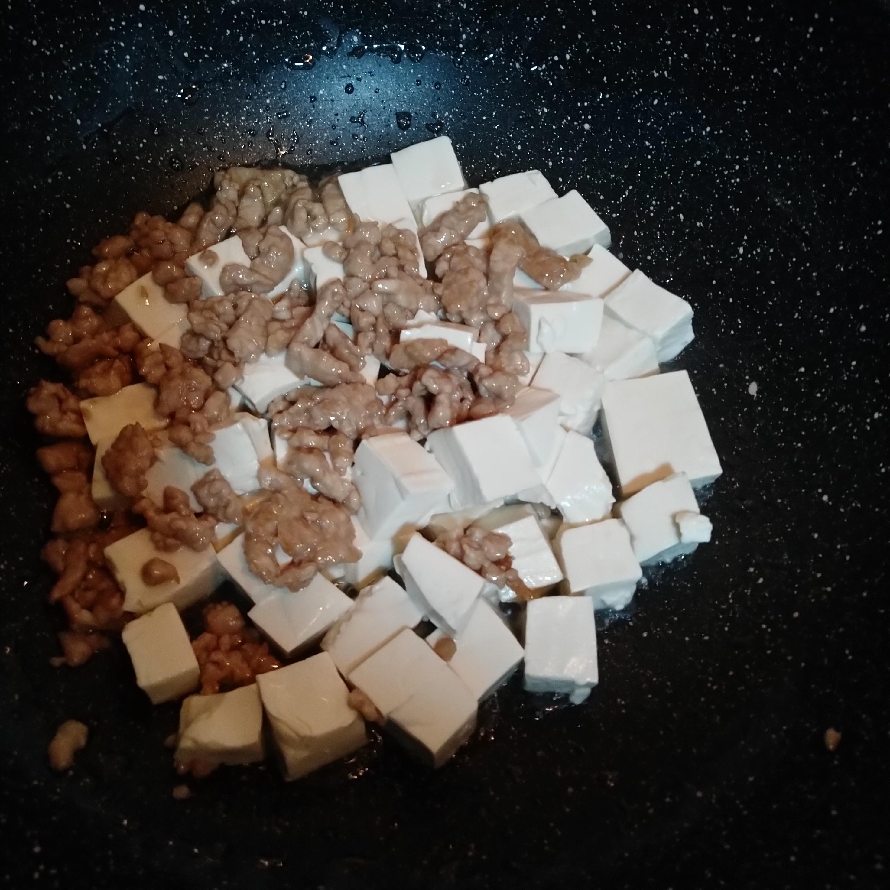 豆腐肉沫混合