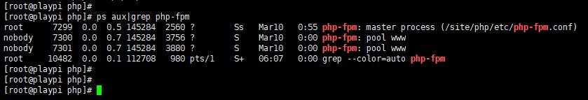 PHP-FPM 启动成功