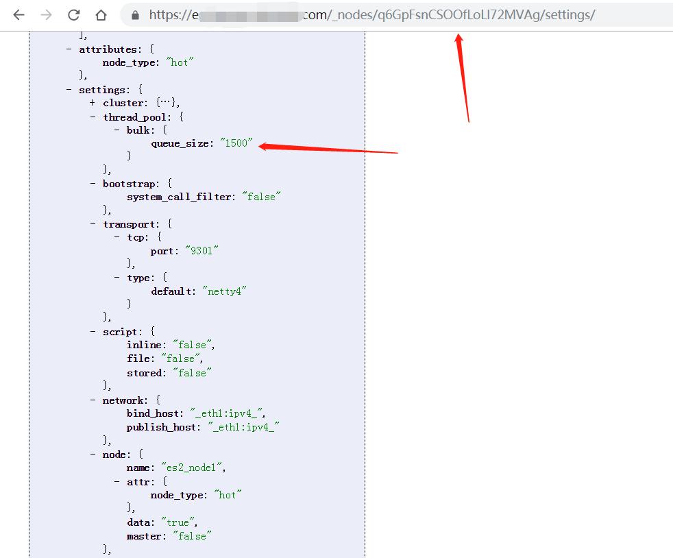 使用 API 查看节点的配置信息