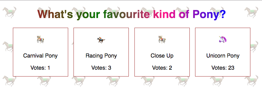 Pony Vote Screenshot