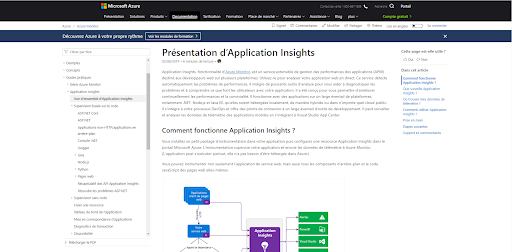 Figure 9 : Application Insights online documentation