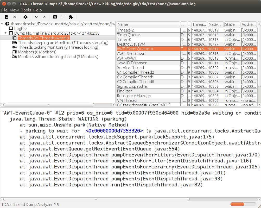 GitHub - irockel/tda: TDA - Thread Dump Analyzer