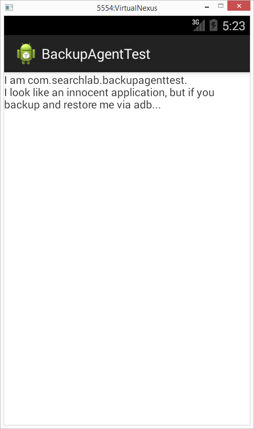 ADB Backup Injection, custom BackupAgent