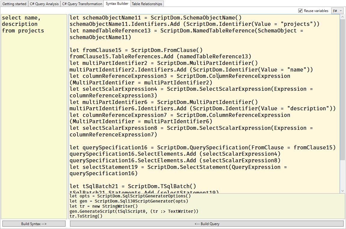Syntax Builder