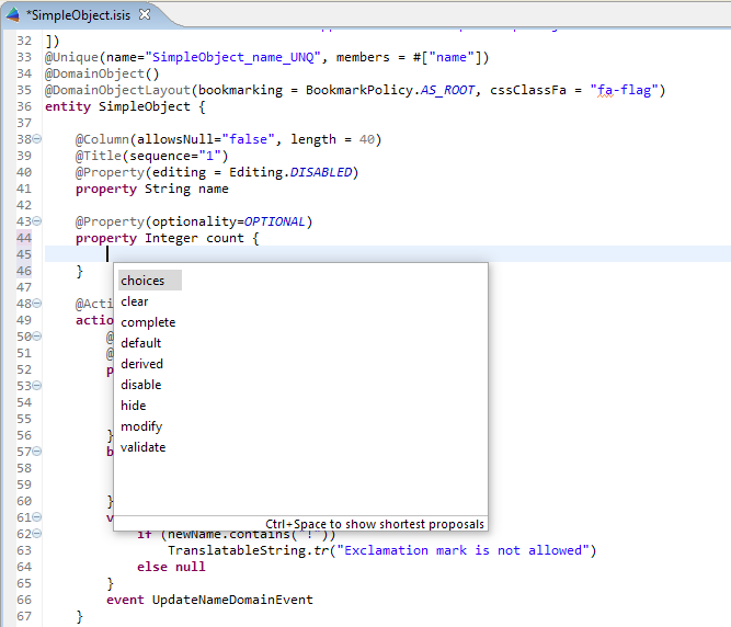 410 editor intellisense