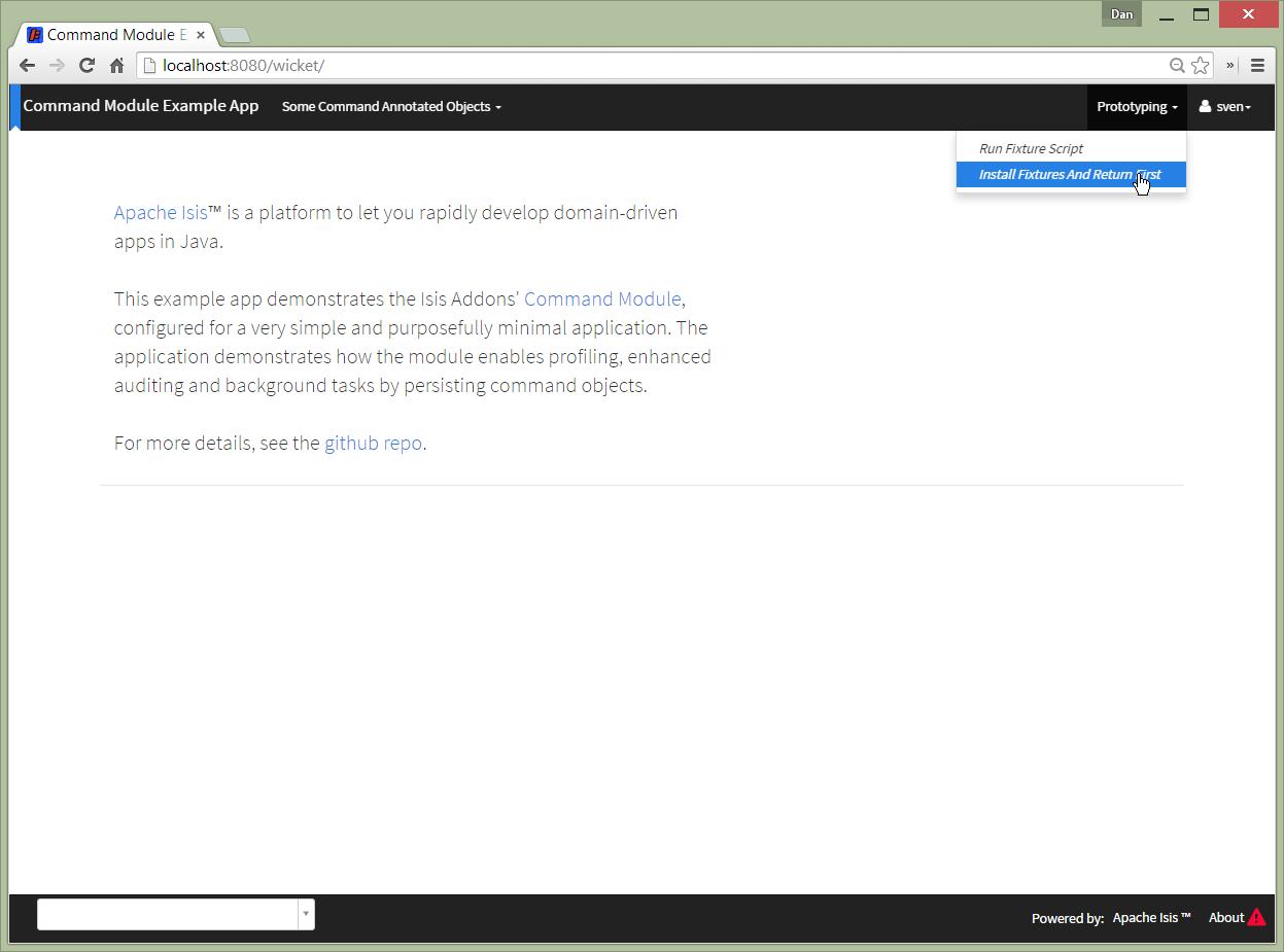 GitHub - isisaddons-legacy/isis-module-command: As of v1