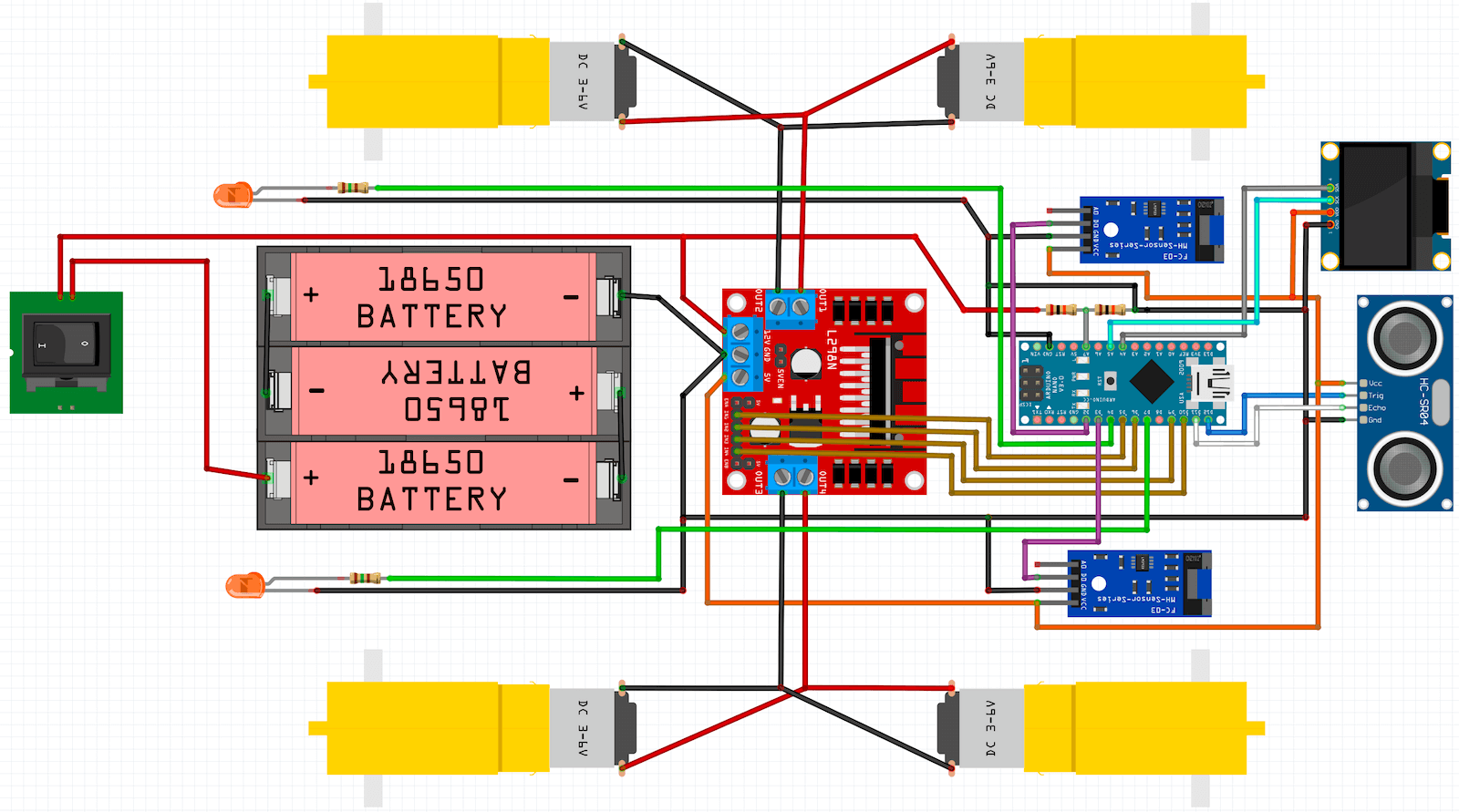 OpenBot - принципиальная схема робота