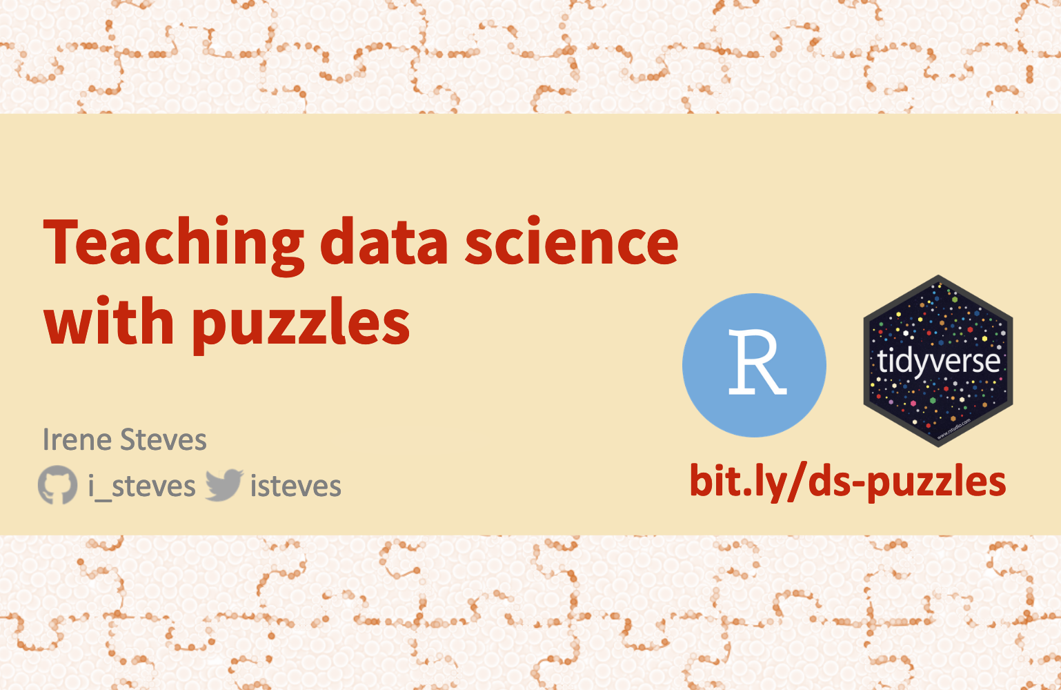 Teaching data science with puzzles