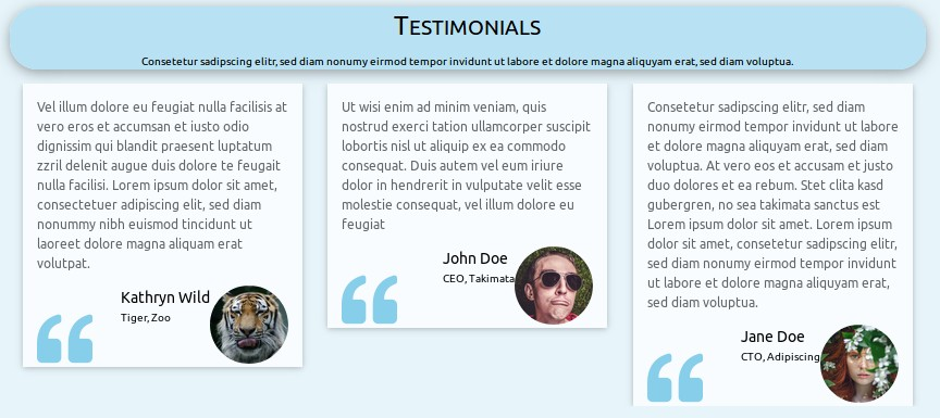 screenshot Testimonials