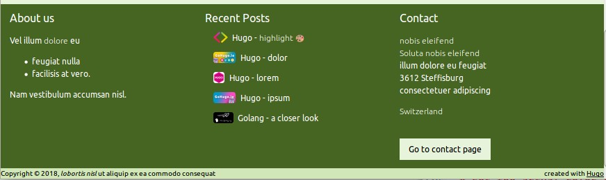 screenshot Footer
