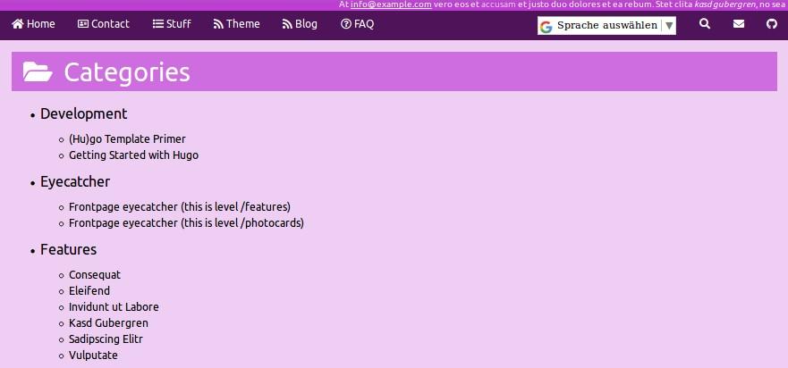 screenshot Categories