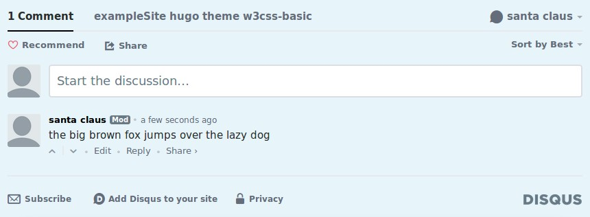 screenshot Blog Disqus Open