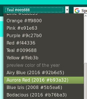 screenshot color theme selector