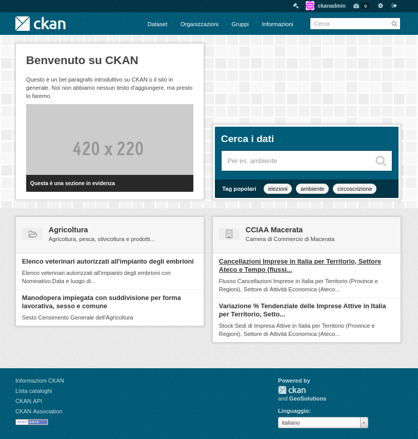 CKAN for Italian Open Data
