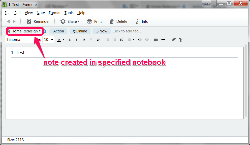 Note in Evernote