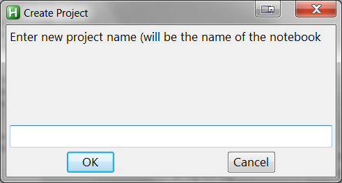 AHK Project name dialog