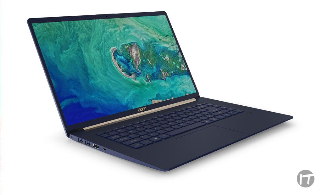 """Acer anuncia su notebook Swift 5 de 15"""" y menos de 1 kg de peso"""