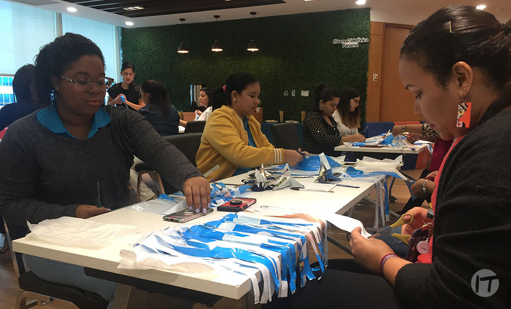Transformación de bolsas plásticas como emprendimiento ecológico