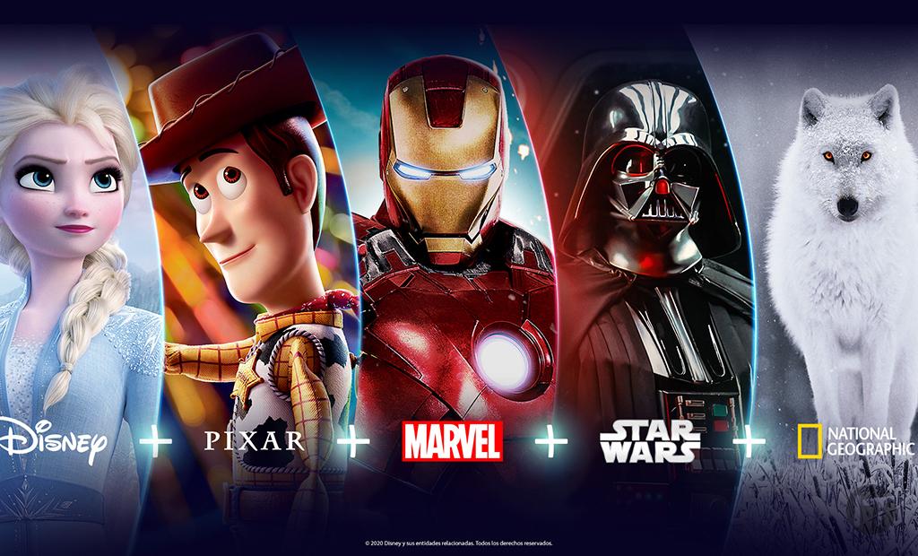 """A partir de noviembre Disney+ (""""Disney plus"""") es el nuevo hogar  de Disney, Pixar, Marvel, Star Wars y National Geographic en Latinoamérica"""
