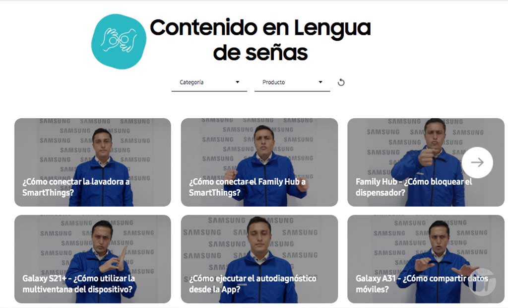 Lengua de señas, un canal de servicio de Samsung para usuarios con discapacidades auditivas