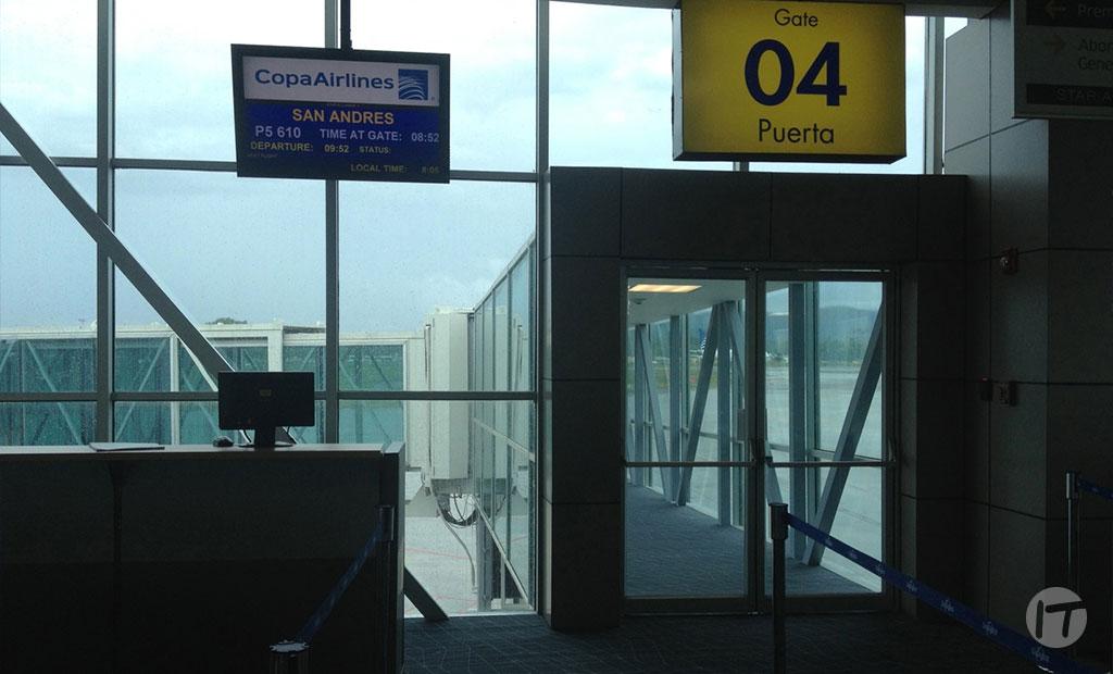 Información sobre cambio de numeración en las puertas de embarque del aeropuerto internacional de Tocumen