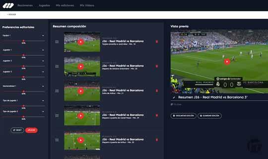MEDIAPRO aplica la inteligencia artificial por primera vez a los resúmenes de fútbol personalizados