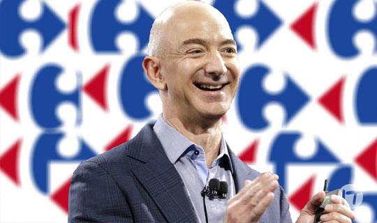 Franceses sorprendidos por la posible compra de Carrefour a manos de Amazon
