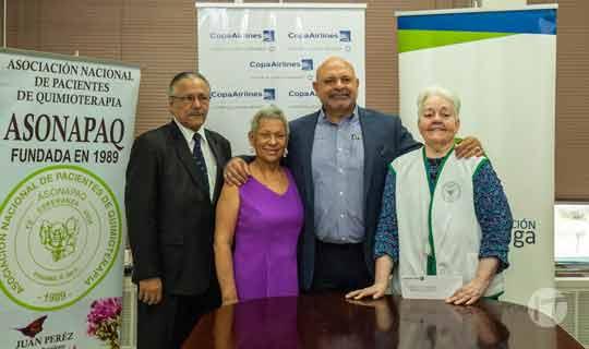 Copa Airlines dona $50 Mil a la asociación nacional de pacientes de quimioterapia