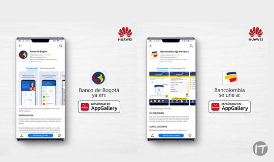 La banca colombiana se sube a AppGallery de Huawei