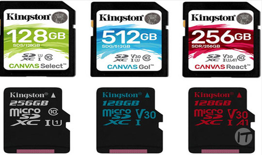Kingston Technology destaca distintos usos de tarjetas de memoria para GoPro, Drones y Smartphones
