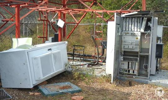 Guardia Nacional recupera materiales robados de radiobase de Movilnet en Ureña