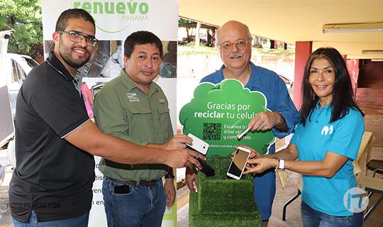 """Movistar Panamá y estudiantes de la UP realizan """"Jornada de Reciclaje Electrónico"""""""