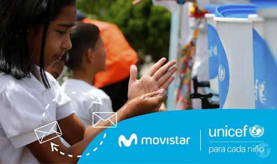 UNICEF y Movistar unen esfuerzos con información para la prevención del COVID-19 en Venezuela