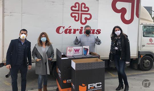 PcComponentes aporta material tecnológico a diversas entidades como Cáritas y Cruz Roja para facilitar la Comunicación
