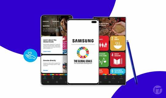 Samsung, en alianza con la ONU, ayuda a ofrecer ideas a los usuarios sobre cómo pueden apoyar al bienestar de otros.