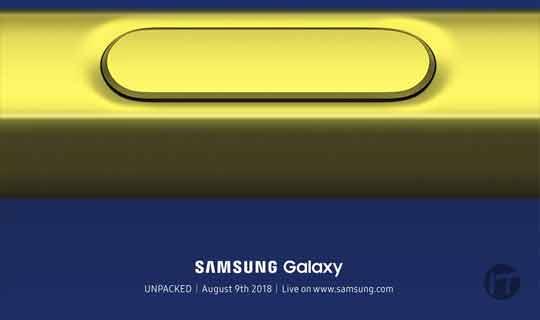 Un sitio preferencial para ver el lanzamiento del Samsung Note 9