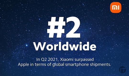 Xiaomi se sitúa por primera vez en el segundo lugar del mercado mundial de smartphones
