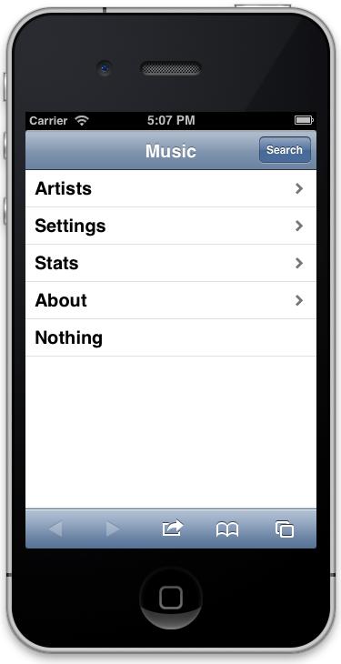 iOS style web