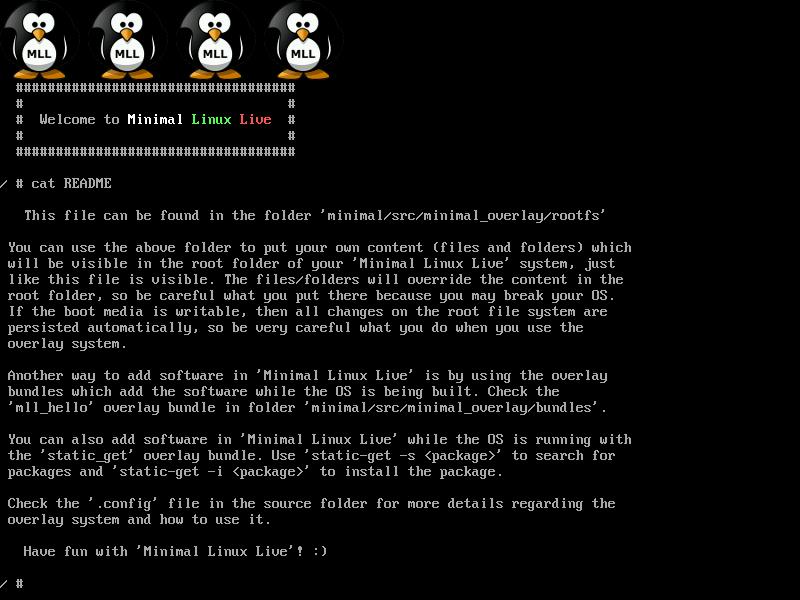 Minimal Linux Live Readme