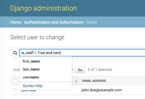 GitHub - ivelum/djangoql: Advanced search language for Django
