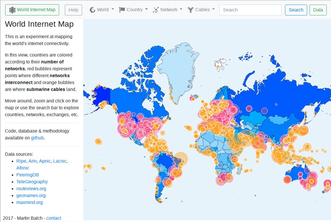 World Net Map Screenshot